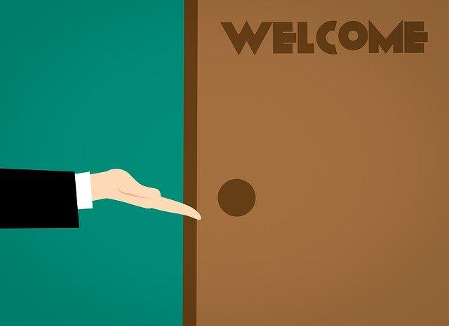 Dvere, ilustrované, Welcome.jpg